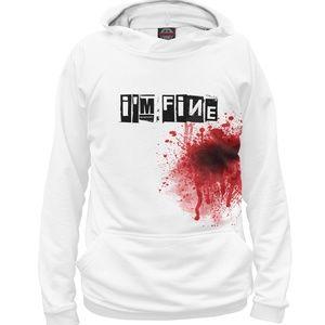 I'm Fine Blood Halloween Hoodie